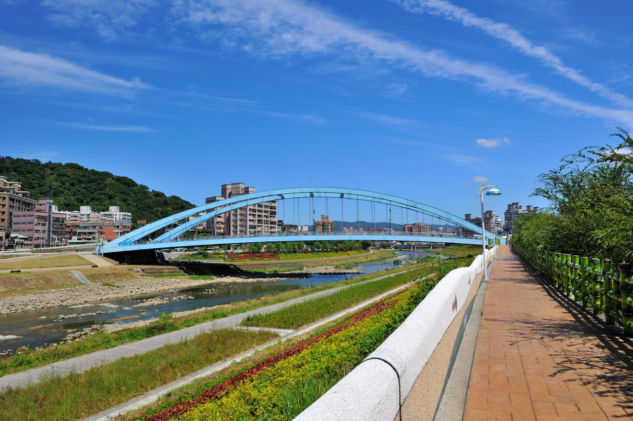 stream Architecture Blue Bridge Building City City Cityscape Cloud Day Modern No People Outdoors Road Sky Stadium Stream Travel Travel Destinations Tree Trees