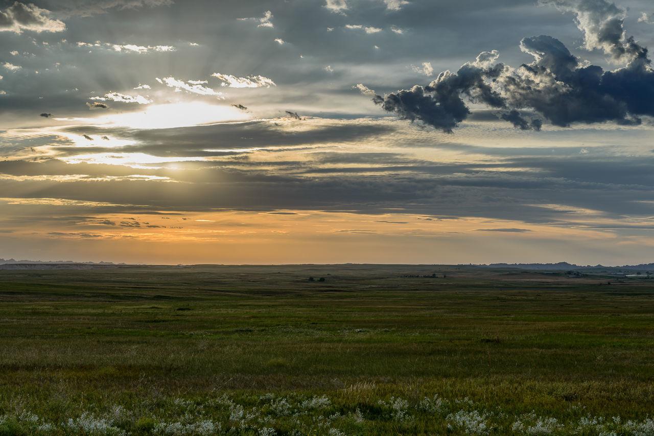 Sunset on the plain in the Badlands Badlands Badlands National Park Cloud Clouds Clouds And Sky Cloudy Grass Landscape Landscape #Nature #photography Landscape_Collection Landscape_photography South Dakota South Dakota Badlands Sunset Sunset_collection