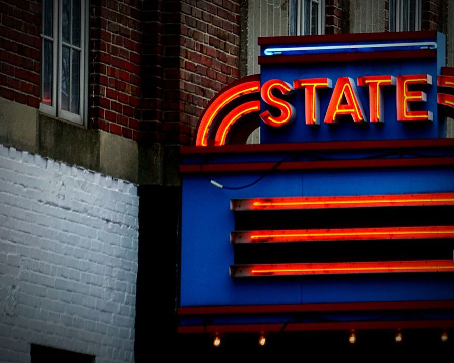 A happier state of mind Lights State Theatre Urban 4 Filter City Streets  Streetphotography Virginia Urbanexploration Signs Check This Out