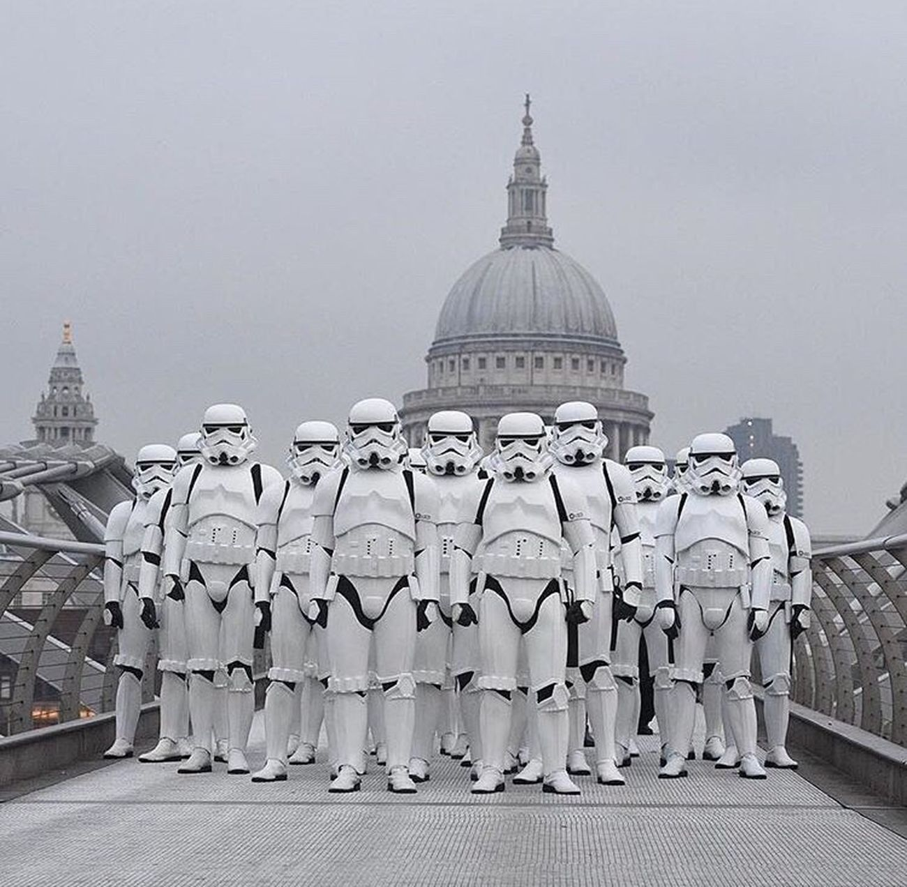 Stormtroopers Envading London Dome Architecture Outdoors Millenium Bridge Capturingthosemoments Cityscape Close-up BeastModeON Taking Photos City No People Day Starwarsgeek Rougeone Marchingbunch GoodTimes Building Exterior War MayTheForceBeWithyou