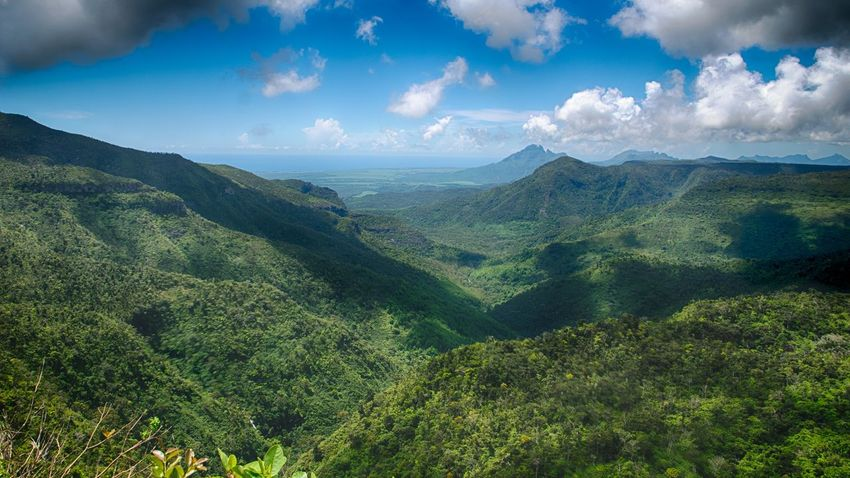View from Gorges View Point, Mauritius Mountains Travel Sky Grass Green Color Blue Landscape Nature Mobilephotography HDR Vacations Hill View Height Amazing EyeEmNewHere