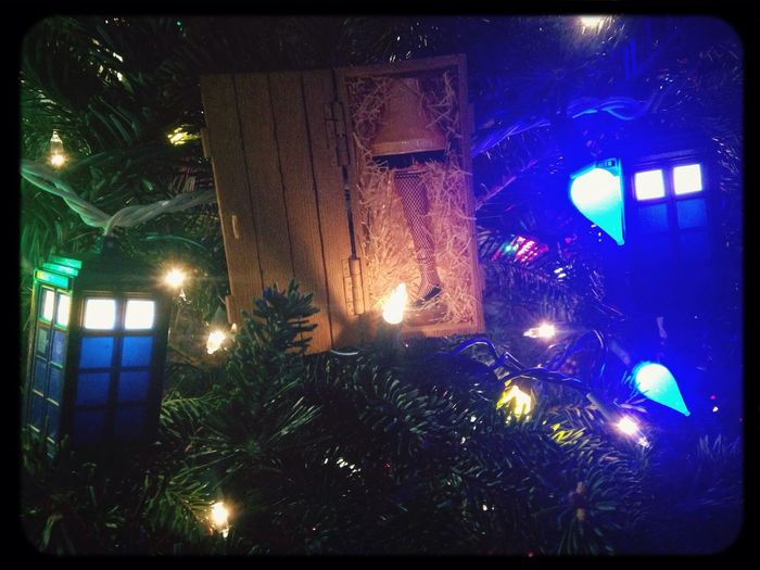 It's that time again. Tardis Leg Lamp Christmas Tree Decorations