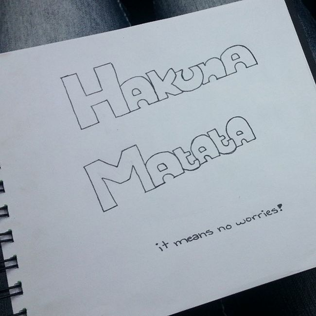 Like is I should color it comment if I should leave it black and white. Hakunamatata Itmeans No Worries