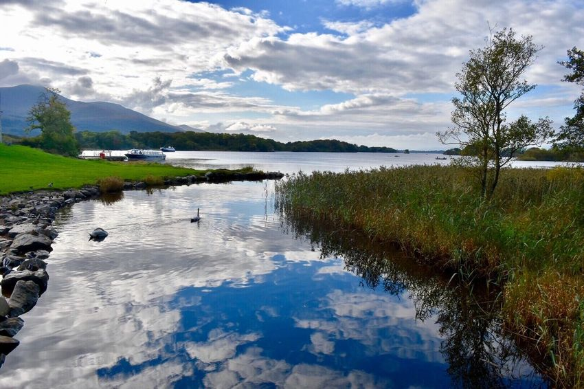 Reflection Outdoors Sky Nature Water No People Day Tranquil Scene Scenics Ireland🍀 Water Reflections Killarney