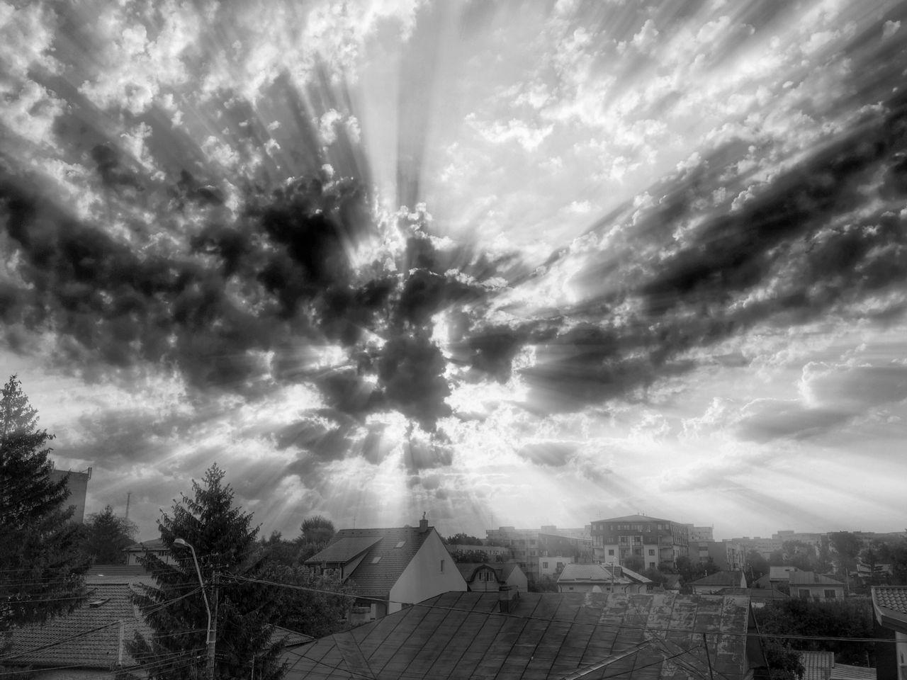 Bw series 012 Dramatic Sky Sunbeam VSCO Blackandwhite Vscocam Monochrome Black & White Photography Black And White IPhoneography Morning