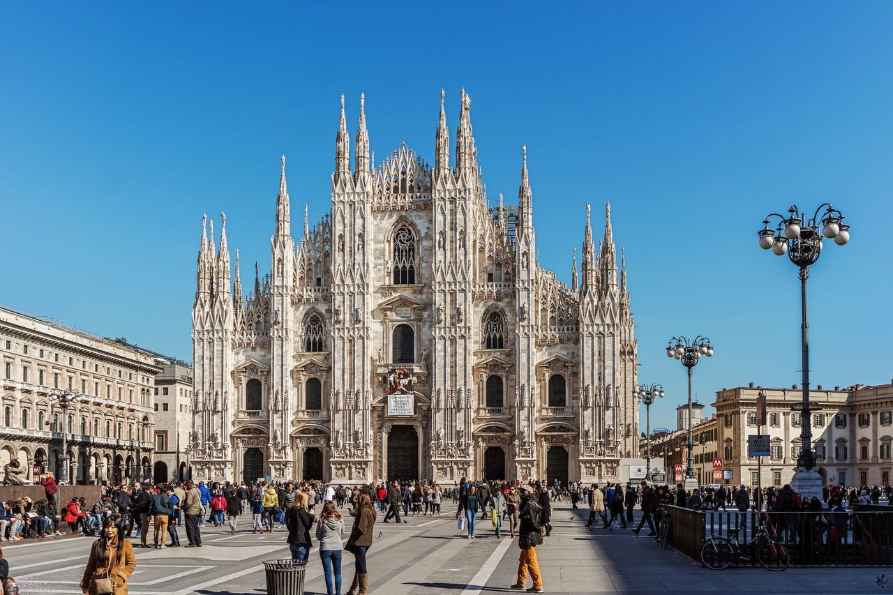 Spring Day Dumo Walk In Milan Travel Destinations Large Group Of People Outdoors Statue Clear Sky Ornate History EyeEm Diversity