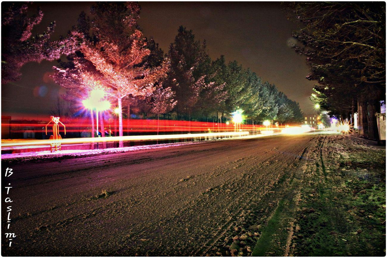 PHoTo:B.Taslimi Iran♥ Bonab Taslimi Canon700D Lenz 18-55 City Snow ایران آذربایجان شرقی شهر بناب تسلیمی خیابان کانن شب کانن700دی Night بلوار برف Canon