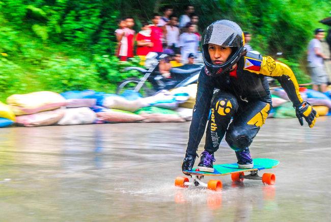 GirlPower Eyeem Philippines 3rd BKG Longboard Downhill Competition Longboard Girl Higalaay 2014
