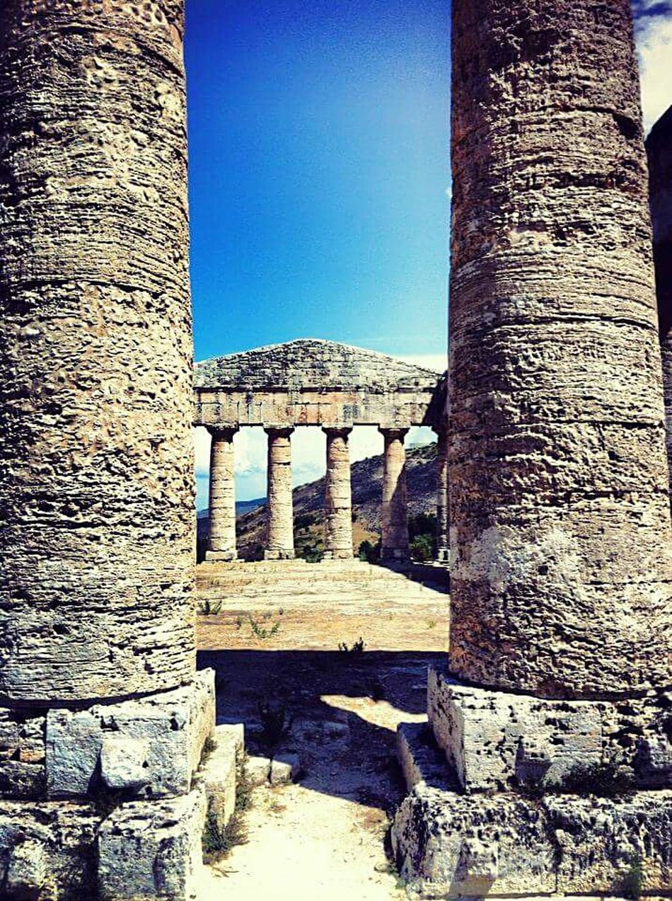History Architecture Outdoors Ancient Archaeology Ancient Civilization Built Structure No People Day Cultures Segesta Italy Valle Dei Templi Sicily Sicilia