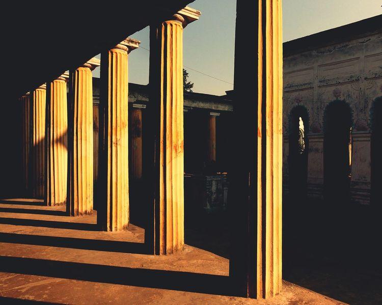 Traveldiaries Historic Building Murshidabad Yellow Sunlight, Shades And Shadows