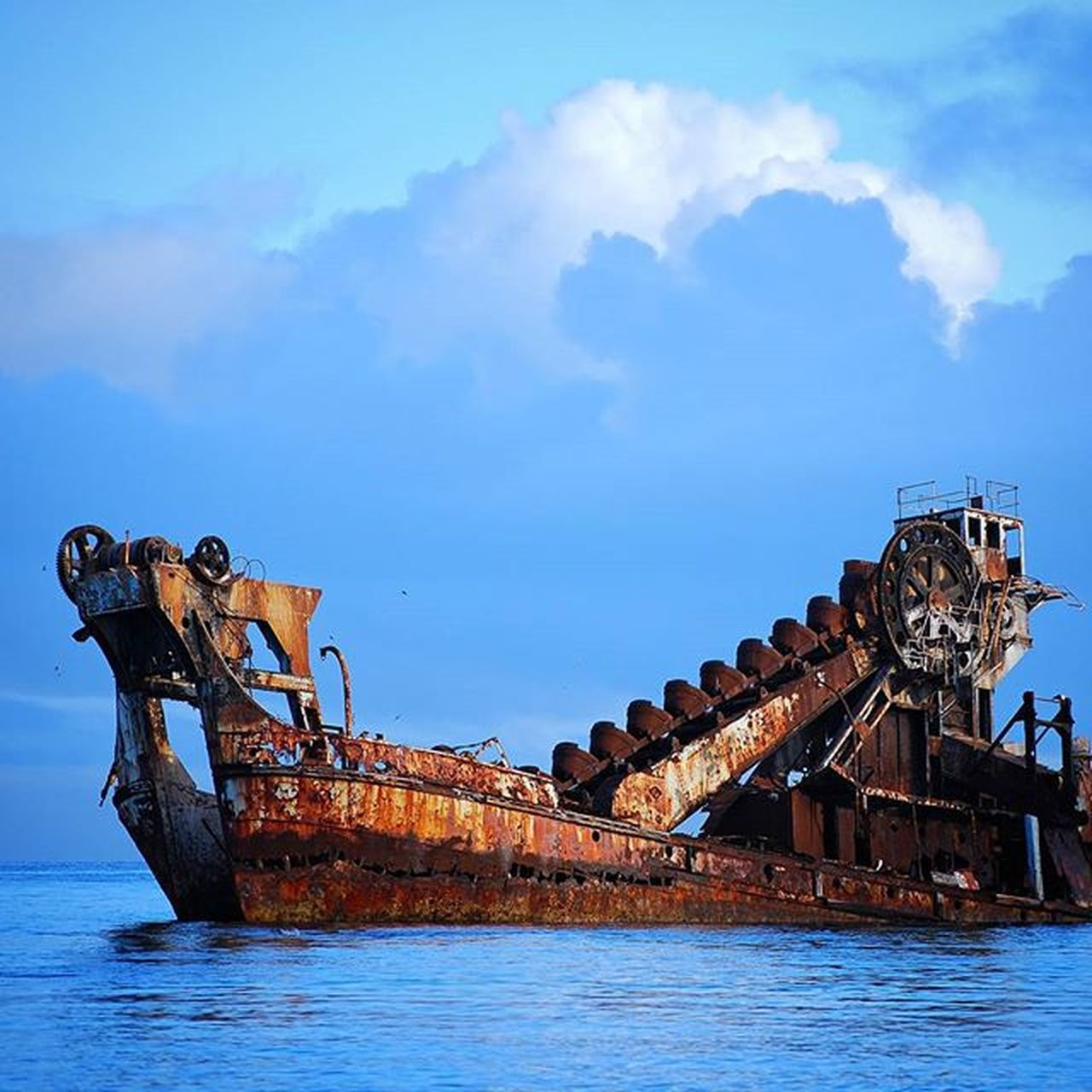 Moreton Island wreck Lead_me_to_oblivion Moretonisland Shipwreck Wreck Water Ocean Beach Awesome Horizon Photography Nikon Adventures Clouds Rust Blue Island Queensland Australia