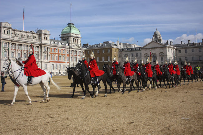 Architecture Built Structure Cavalry Cavalry Soldier Crowd Cultures Day Guard Lifestyles Mixed Age Range Outdoors Radiance Sky