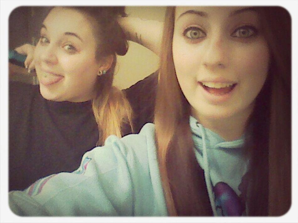 #sister #straighteningmyhair #loveus #werecool #bathroom #lame #siblings