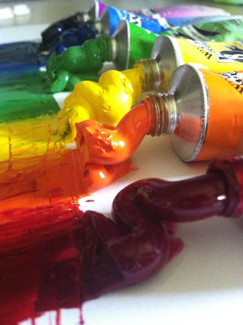 Close-up Closeup Closeupshot Color Indoors  Paint Rainbow Colors Still Life