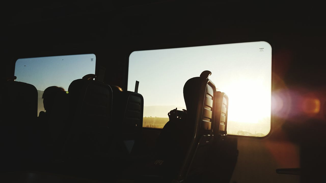 Seat with a view Photography Travel Travel Photography Printdesign Bright Train Sunrise Lens Flare
