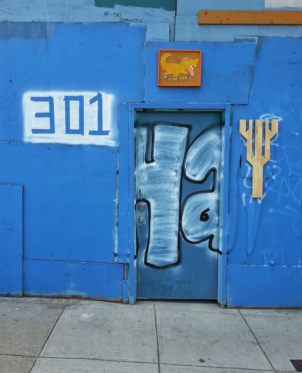 301 Architecture Blue Building Exterior California Day Door Doors Mobilephotography No People Number Outdoors Samsung Samsung Galaxy S III San Francisco Snapseed Street Life Street Photography Text