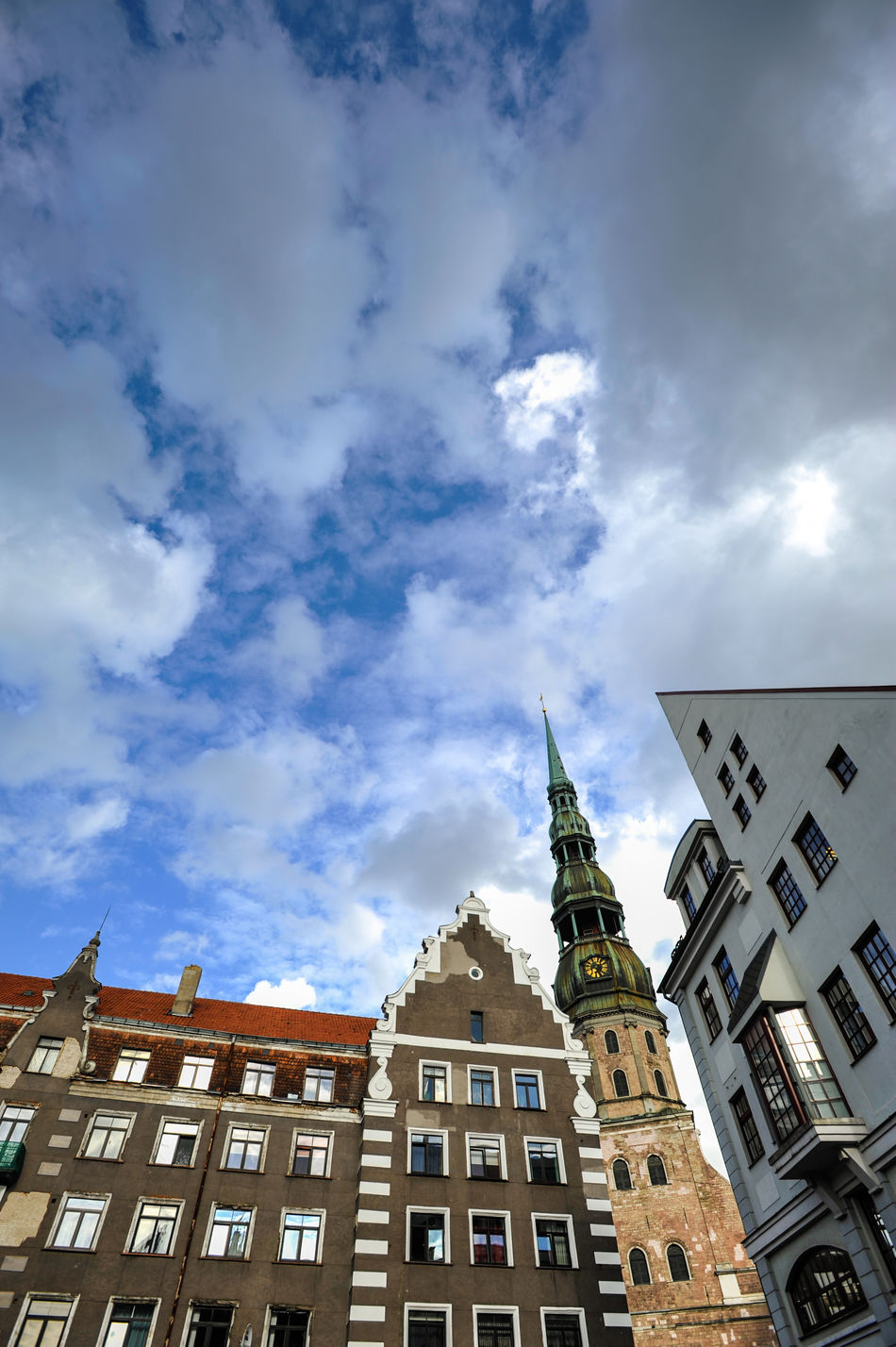 Saint Peter's church in Riga Architecture Basilica Church City City Life Cityscape Famous Place High Section Latvia Old Old Buildings Old House Old Town Residential Building Riga Tourism Travel Destinations Traveling Travelling Vecriga