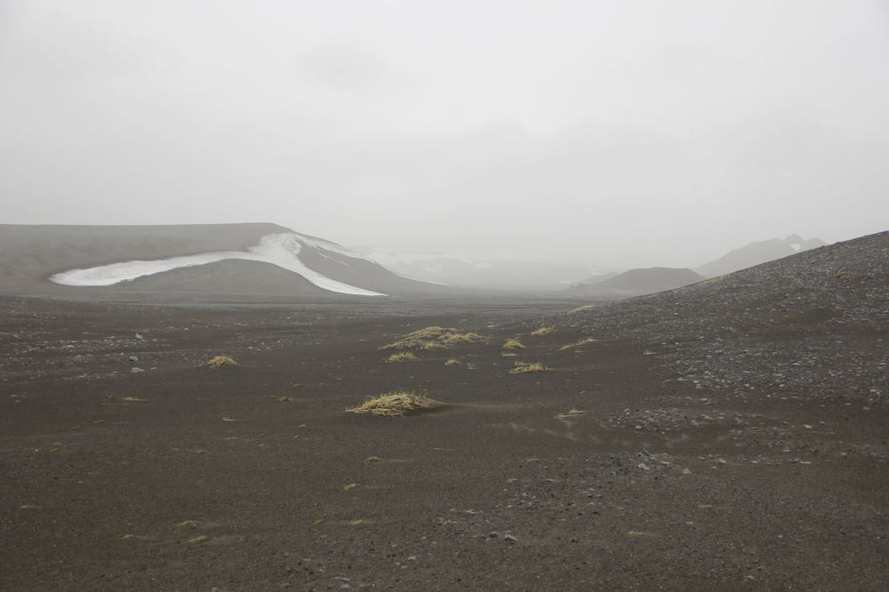 fog Beauty In Nature Cold Days Day Fog Ground Iceland Landscape Mountain Nature No People Nordic Outdoors Scenics Sky Snow Terra  Tranquility