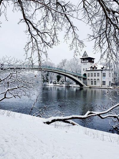 Winter Wonderland Winter Wintertime Snow ❄ Berlin Treptower Park Abteibrücke Spree River My Fuckin Berlin Winter Is Here