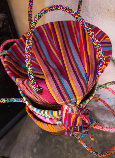 African Crafts Baskets Beaded Basket Brightly Coloured Close-up Handmade Basket Multi Colored No People