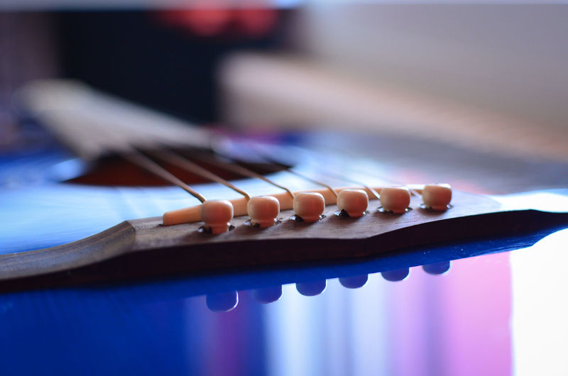 Acusticguitar Blue Blue Sky Chitarra Chitarraclassica Close-up Cropped Detail Focus On Foreground Guitar Guitar Love Guitars Musical Instruments No People Part Of Selective Focus Sharp Still Life TakeoverMusic