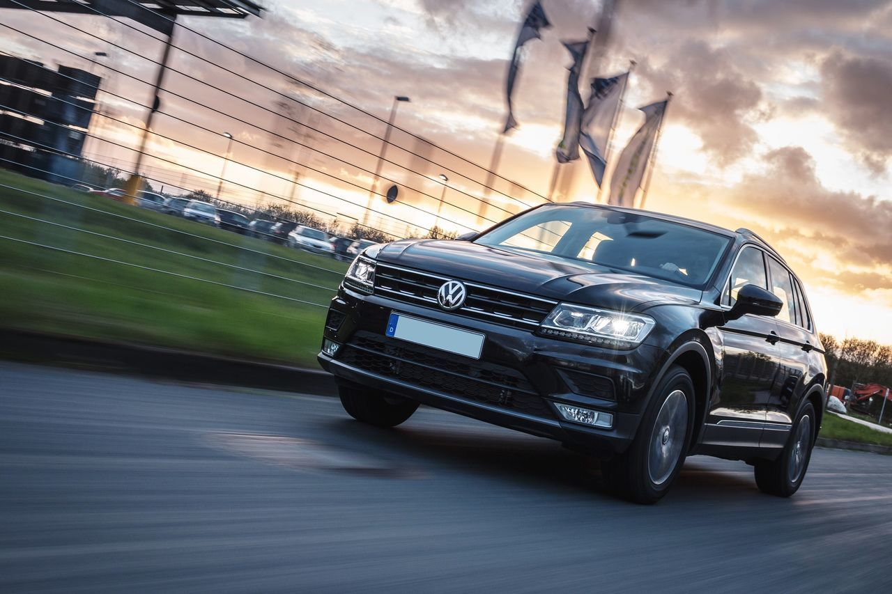 Tiguan Car Sky Land Vehicle Motion Cloud - Sky Sunset Auto Racing Outdoors Day Speed Sunlight Streetphotography Street