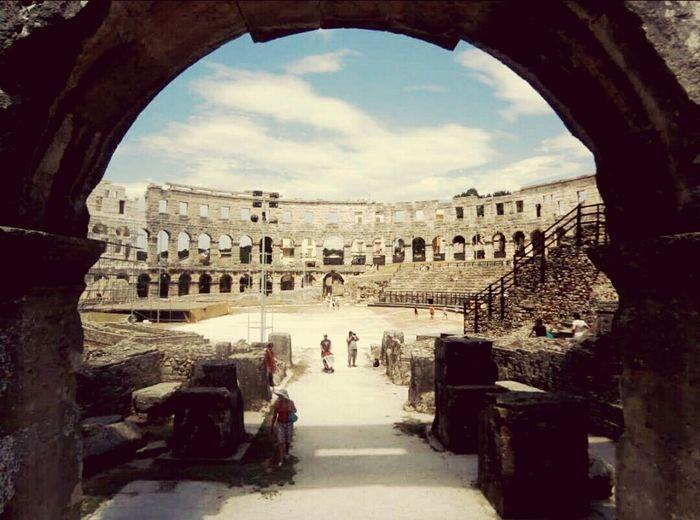 Croatia Old City Pula Kolosseum Summertime Holidays ☀ History History Architecture Nice Place