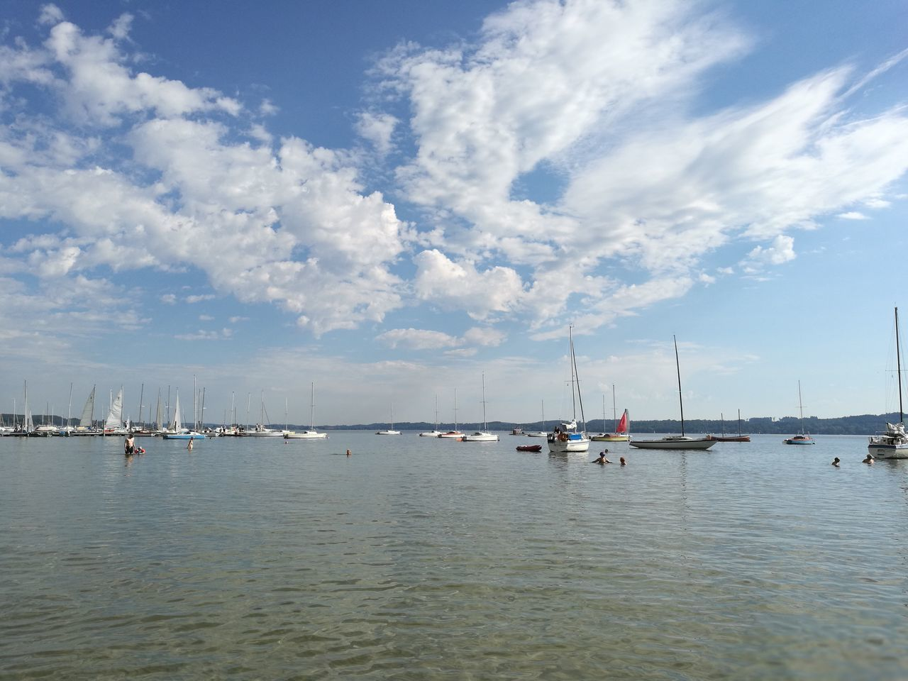 Taking Photos Nautical Vessel Water Transportation Sky Cloud Boat Cloudscape Calm Tranquil Scene Nature Summer ☀ HuaweiP9 Photography Deutschland Photo