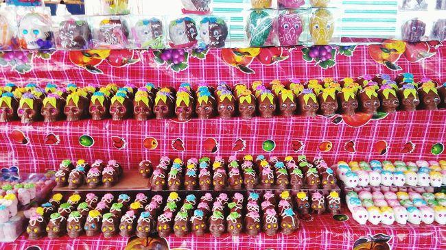 Multi Colored Variation Abundance Market Stall Market Mexico Tlaxcala Cmh Tlaxcalita La Bella Skull Candy