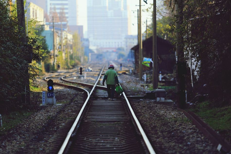 Beautiful stock photos of shanghai, railroad track, walking, city, men