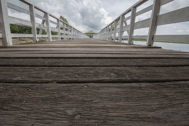 Bueng Si Fai, Phichit, Thailand Bueng Si Fai Footpath Pier Thailand Wood Architecture Bridge Bridge - Man Made Structure Building Built Structure Cloud - Sky Connection Crocodile Day Footbridge Nature No People Outdoors Park Phichit Railing Sky The Way Forward Wide Wooden