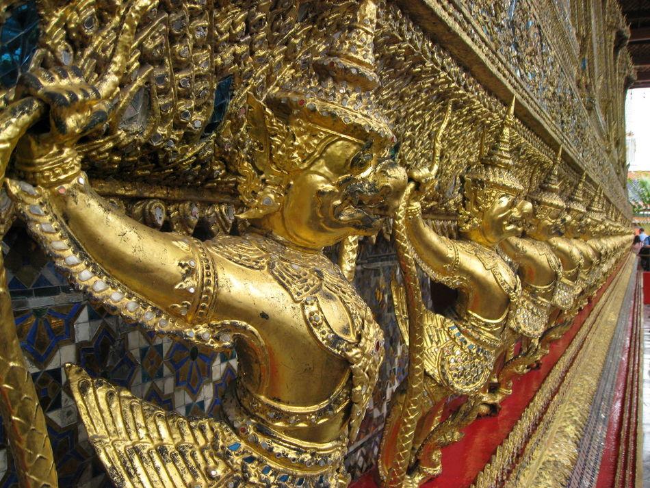 Far east visit Sculpture Golden Mythology History Ancient Civilization Bangkok Thailand Thailand_allshots Culture Wat Phra Kaew Wat Phra Kaeo