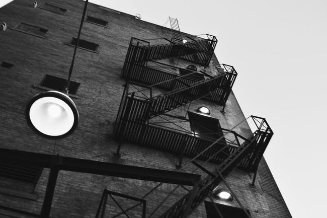 Urban Lifestyle Looking Up Downtown Detroit Urban Detroit Urban Metal Steps Steps Fire Escape Fire Escape Stairs Stairs Detroit Architecture Detroit Michigan Detroit Detroit Modern Architecture Black And White Detroit Buildings Showcase July Home Is Where The Art Is MonochromePhotography Monochrome Photography