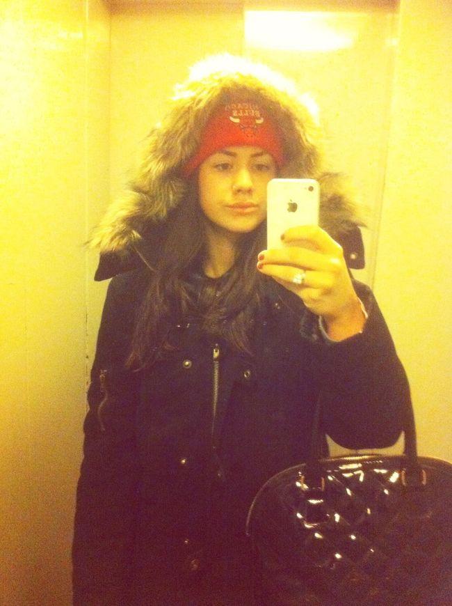 Chicago Bulls Im Lift Elevator 11. Stock Sound Cute Girl Winter Too Cold