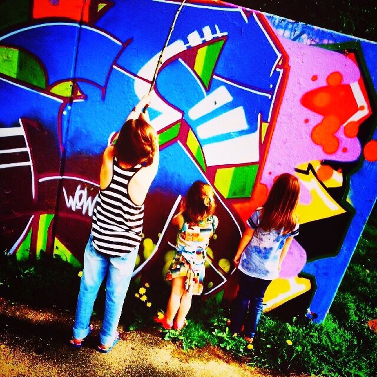 Art And Craft Taking Photos Family Graffiti Graffiti Art Nieces Colorsplash Color Explosion