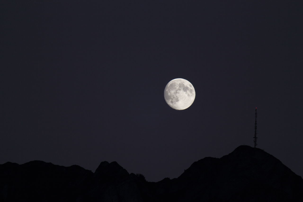 Beautiful stock photos of space, Beauty In Nature, Full Moon, Glowing, Leysin