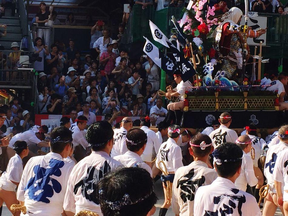 Yamakasa Nakasu 櫛田神社 山笠 Japan https://en.m.wikipedia.org/wiki/Hakata_Gion_Yamakasa Japan Photography Japanese  Large Group Of People Yamakasa Festival Mixed Age Range Japanese People