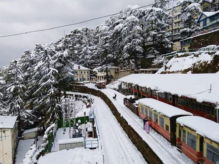 Snowfall Winter Cold Temperature Shimla India Railway Station 2017 New Year Winter Morning Mondaymorning Eyemphotography Eyem Gallery