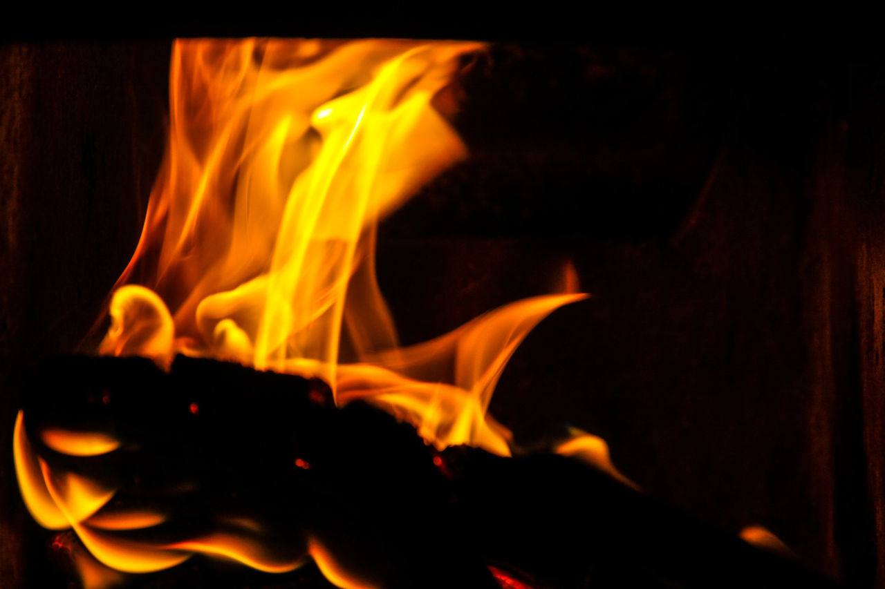 Fire - abstract Bonfire Burning Close-up Flame Heat - Temperature Illuminated Nature Night No People Orange Color Outdoors