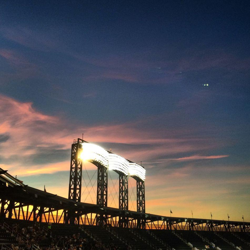 Mets Citifield Baseball Queens Flushing Summer Sunset