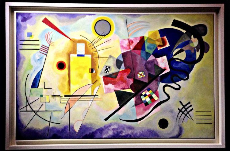 """V. Kandinsky """"Giallo, Rosso, Blu"""" 1925."""