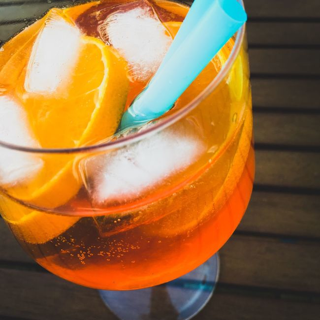 Catching the Sun Cocktail Cocktails Orange Aperol Spritz Summertime Enjoying Life Enjoying The Sun Have A Drink Good Mood IPhoneography Iphone6s Glass Drinks Drink Straw Ice Ice Cubes Aperol Cool Chilled The Essence Of Summer