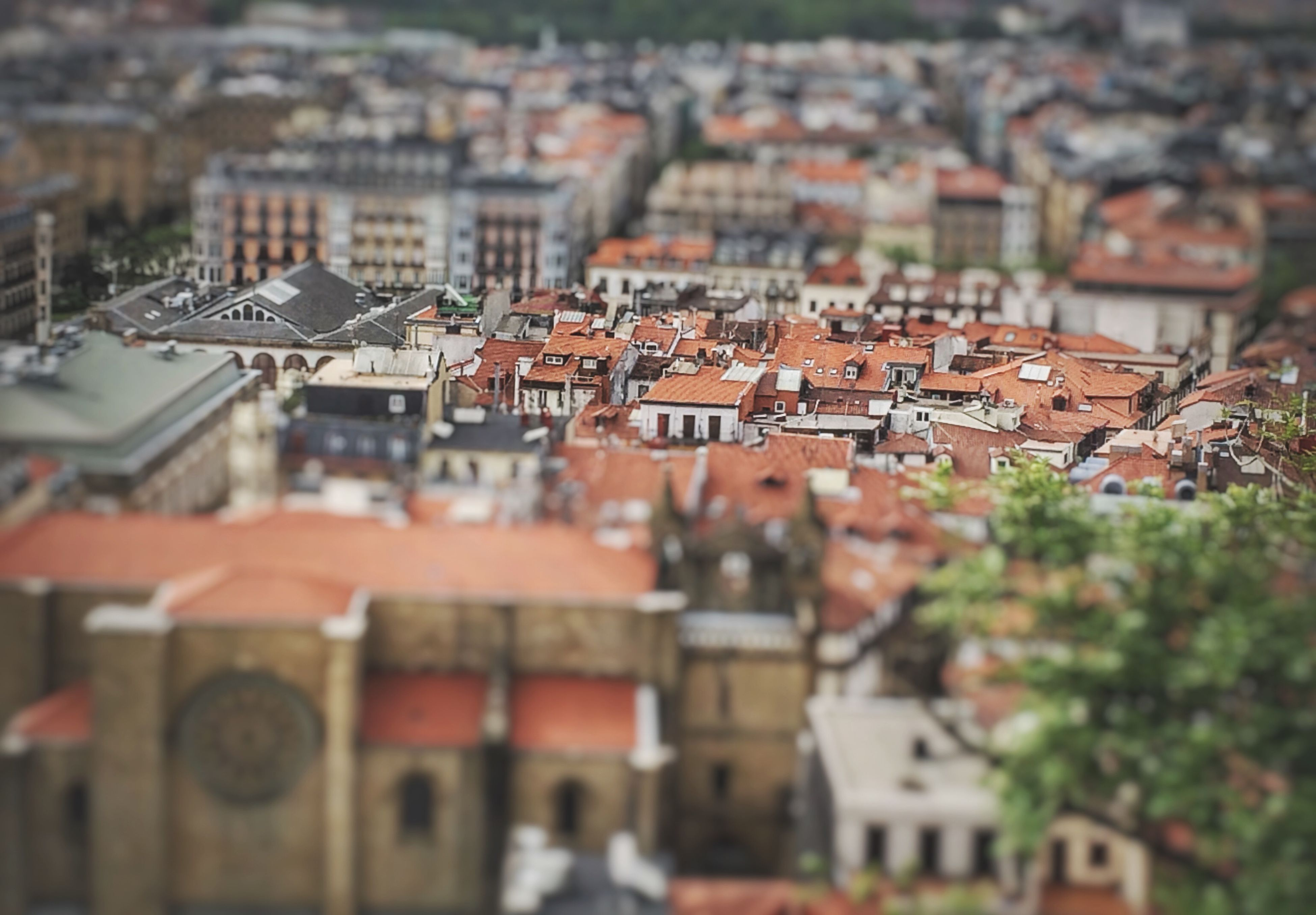 building exterior, architecture, built structure, cityscape, crowded, city, residential structure, roof, residential building, residential district, high angle view, house, selective focus, town, day, townscape, outdoors, community, focus on foreground, no people