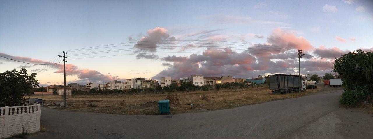 sky, cloud - sky, cable, outdoors, built structure, architecture, landscape, electricity pylon, building exterior, no people, day, tree, nature