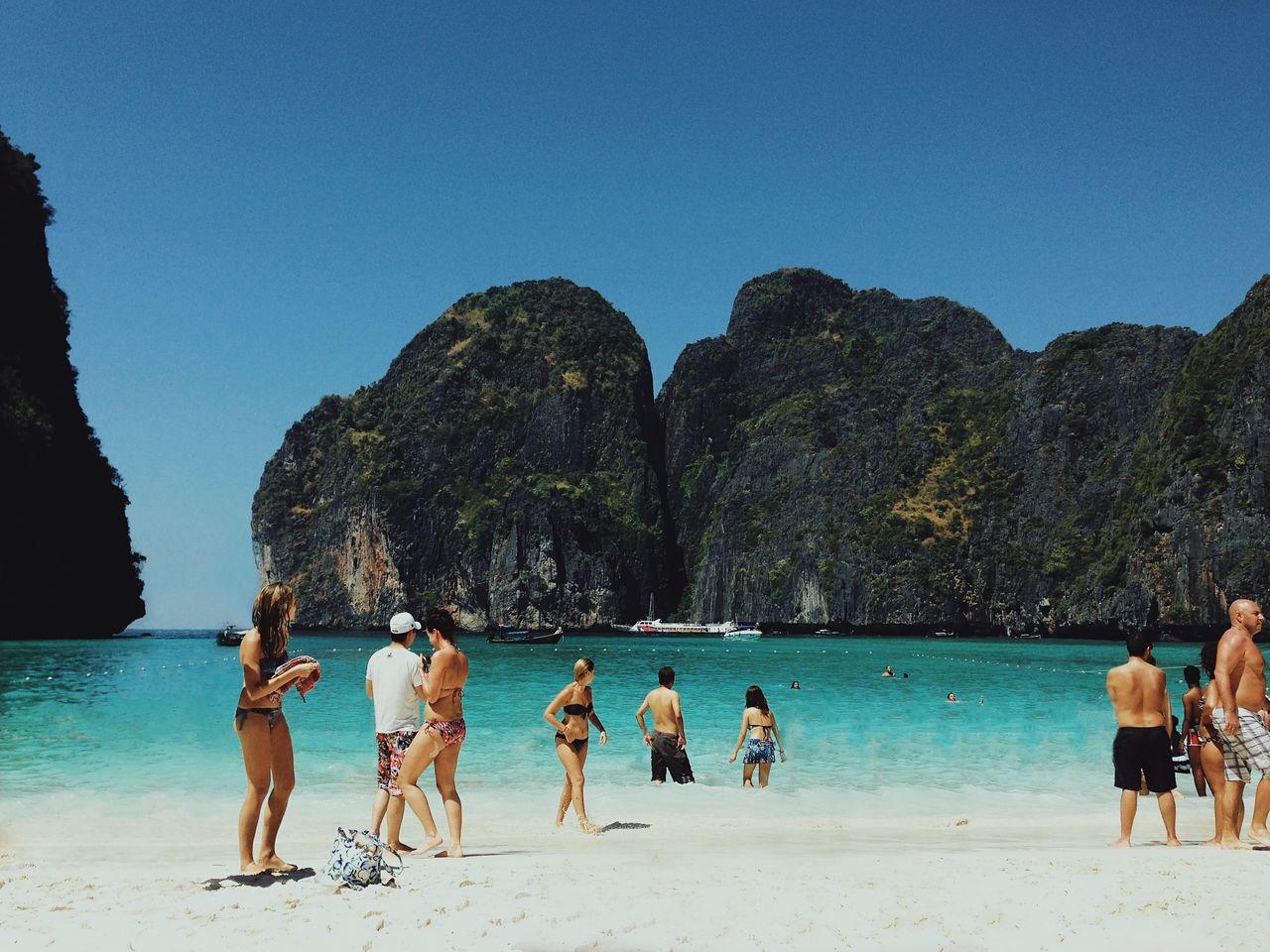 Beautiful stock photos of ocean, Beach, Bikini, Blue, Clear Sky