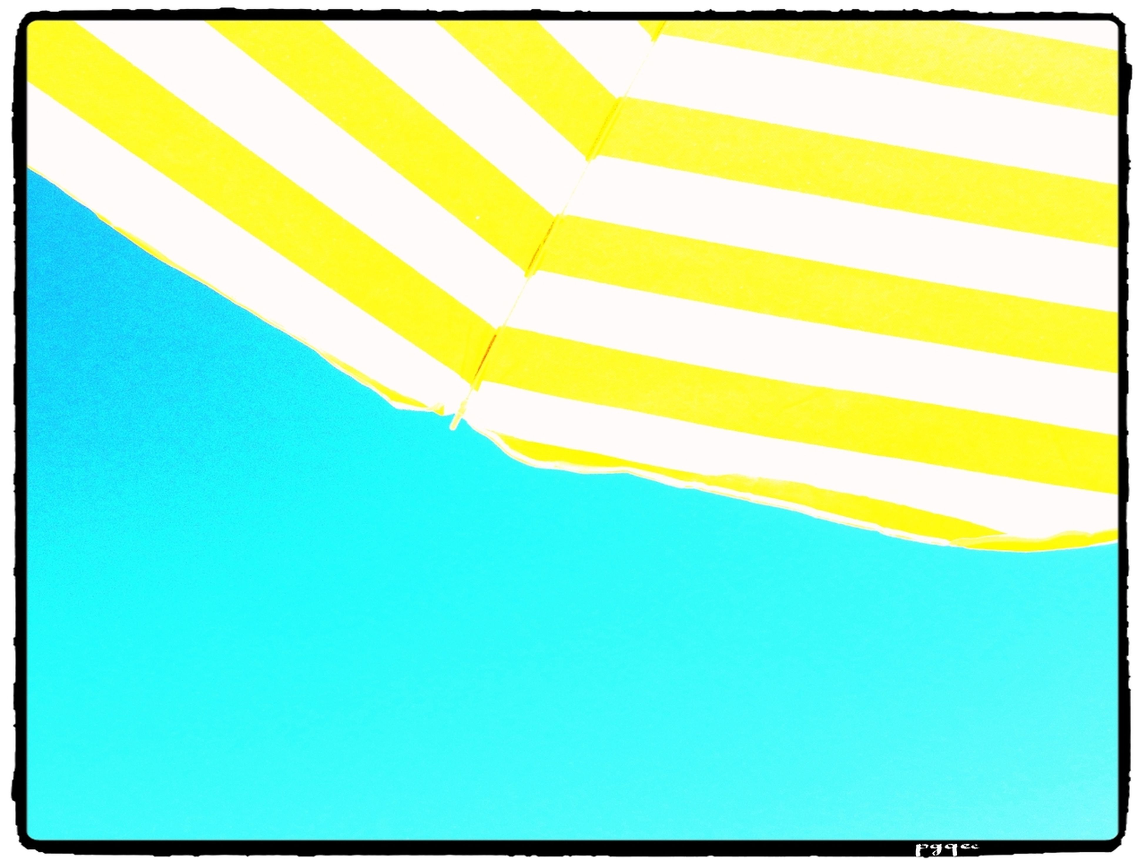 transfer print, blue, low angle view, clear sky, auto post production filter, striped, copy space, pattern, flag, patriotism, multi colored, no people, identity, day, national flag, outdoors, yellow, white color, part of, close-up