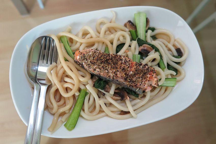 Salmon Udon Noodles Udon Noodles Dinner