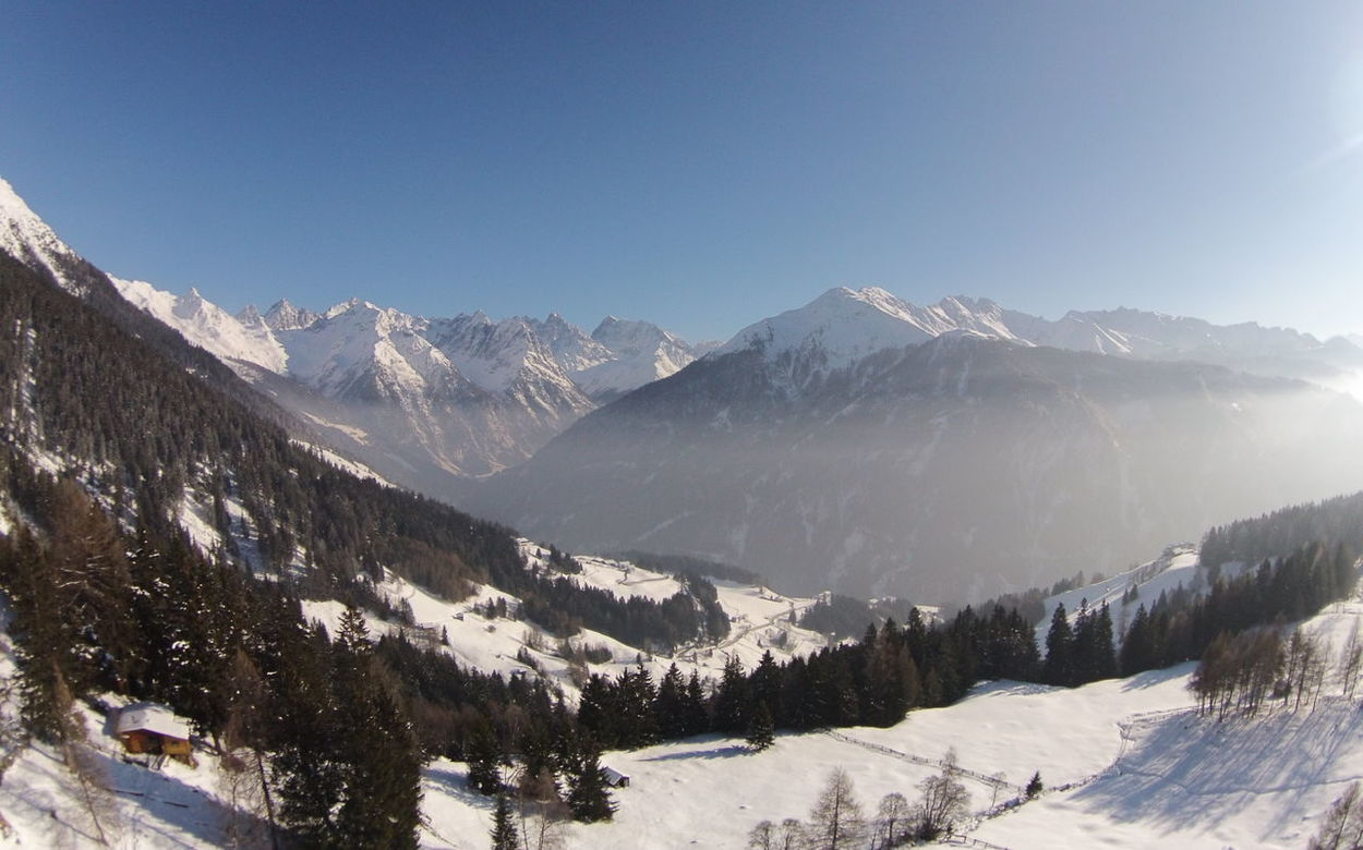 Clear Sky Cold Temperature Fish-eye Lens Landscape Mountain Snow Snowcapped Mountain Tirol  Winter Its Cold Outside
