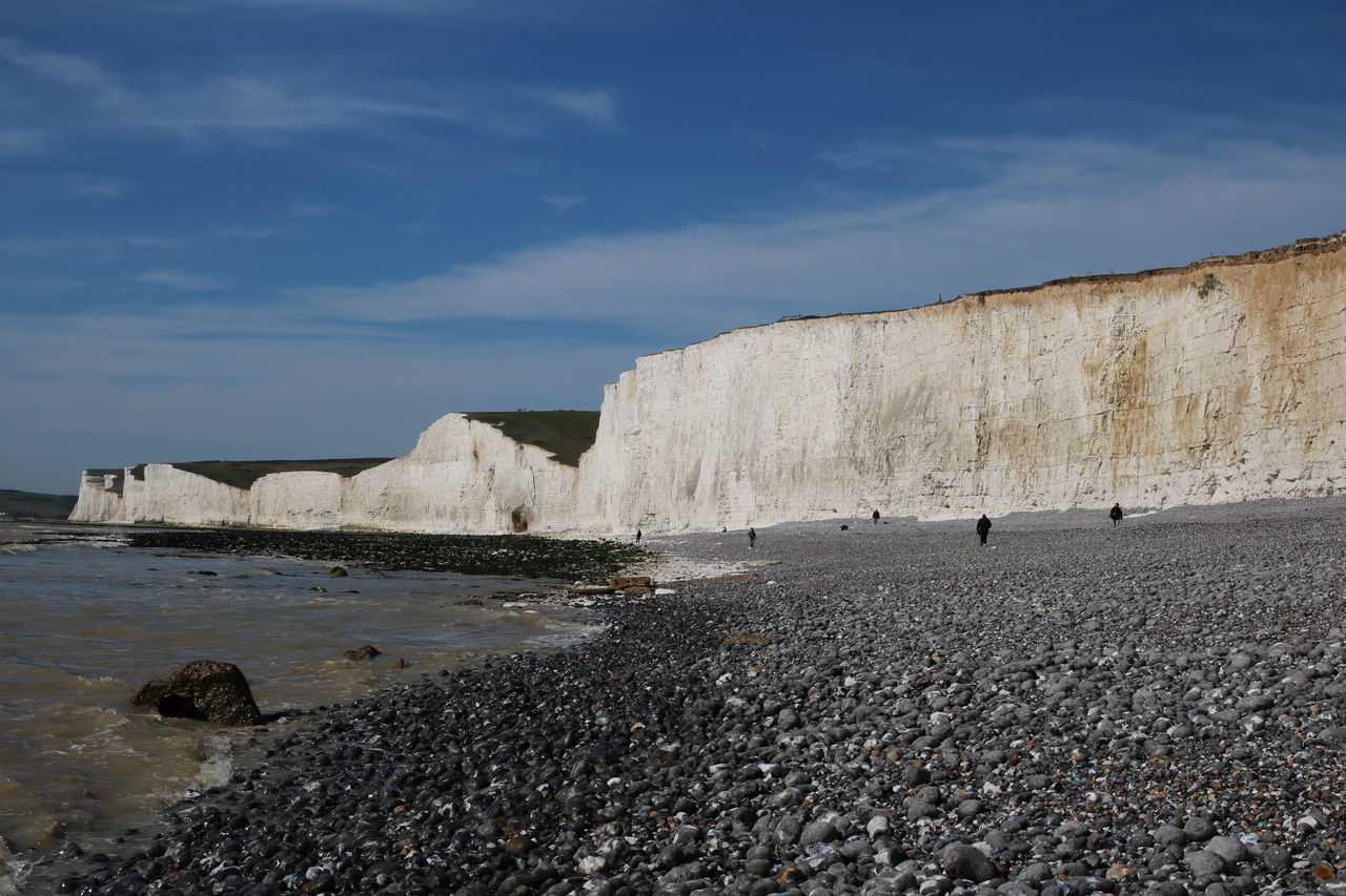 Birling Gap Blue Sky And Clouds Cliffs Day English Channel Nature No People Outdoors Rock - Object Rocks Sand Sand Dune Scenic Seven Sisters Travel Destinations White Cliffs