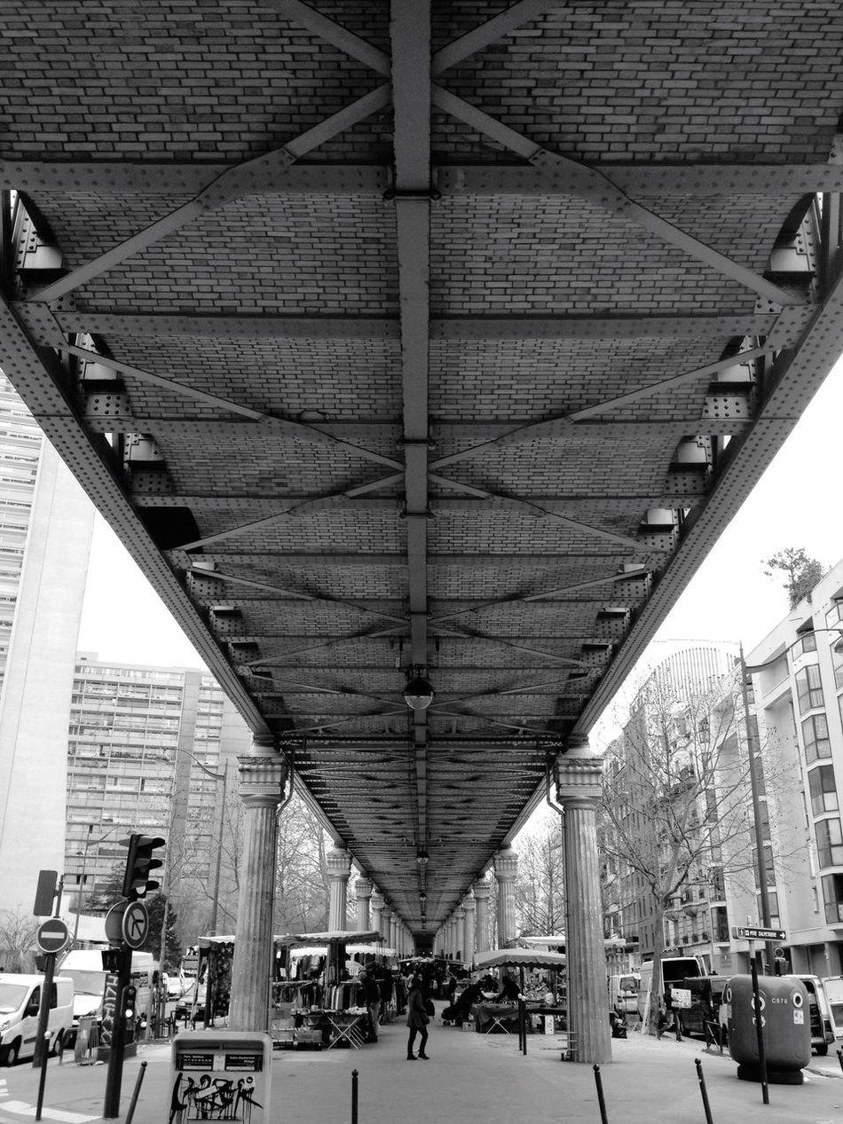 Underneath The Bridge on the way to watch Arsenalfc  at the Pub . Architecture Building Railway Train Bridge Paris Vanishing Point
